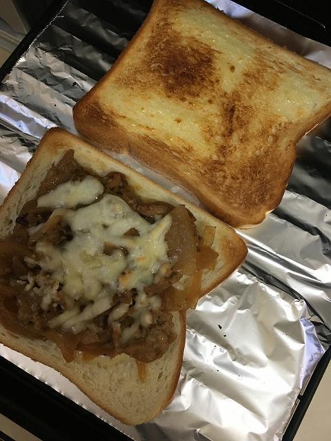 焼肉チーズトースト1