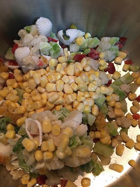 彩りサラダ野菜ミックスを使ったスープ