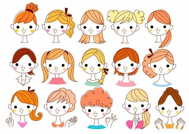 女子の髪型イメージ