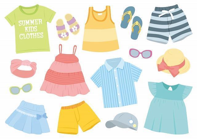 子供服のまとめ売りイメージ