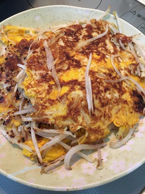 もやしと卵の副菜