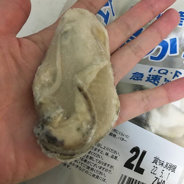 広島かきの大きさ