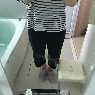 お風呂の鏡、ダイヤモンドパッドで2週間以上掃除した結果