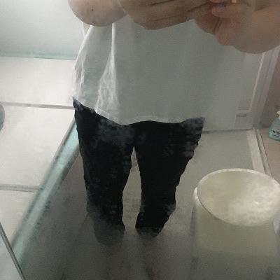 所々、水垢が落ちてきたお風呂の鏡