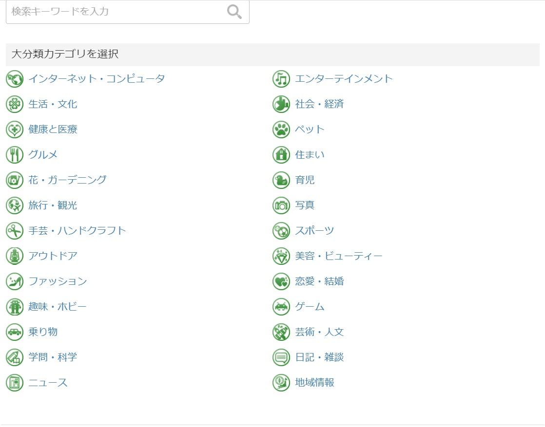 人気ブログランキングカテゴリー登録