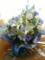 友人にきれいなお花届けてもらえてよかったお花屋さんありがとう紫緑