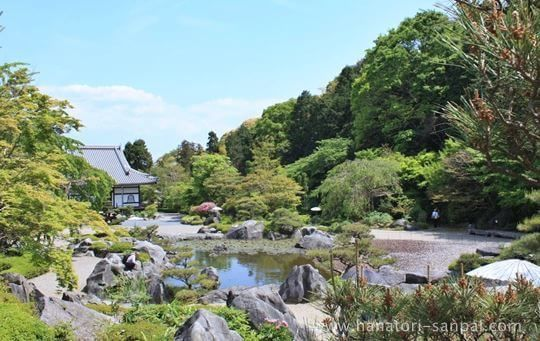 當麻寺奥院の浄土庭園