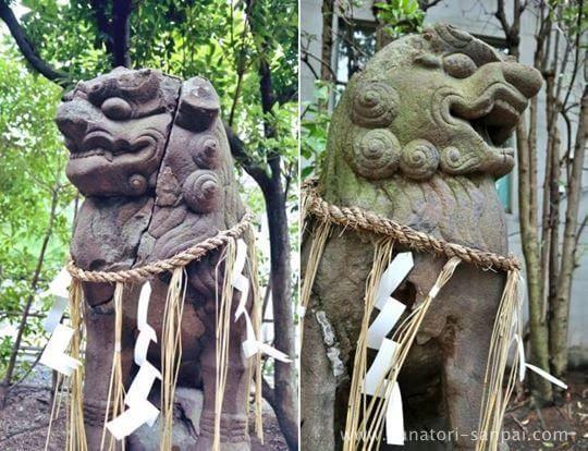 堀越神社の狛犬