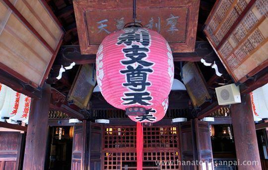 禅居庵の摩利支天堂の正面