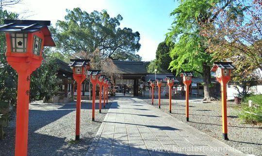 京都の平野神社の境内