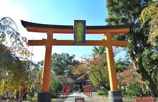 京都の平野神社の鳥居