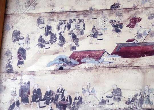 丹生酒殿神社の奉納絵馬の部分