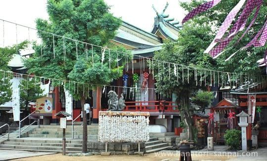 阿倍王子神社の境内