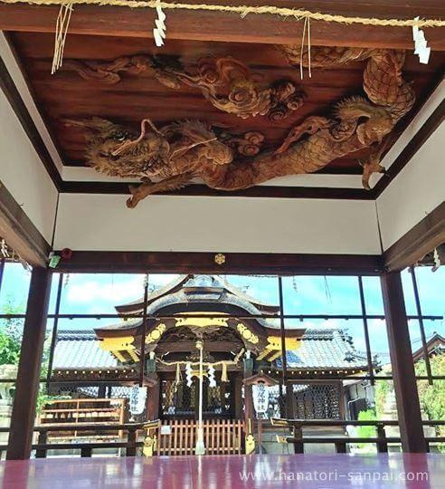瀧尾神社の拝殿の天井