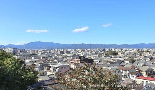 京都の悲田院からの眺め