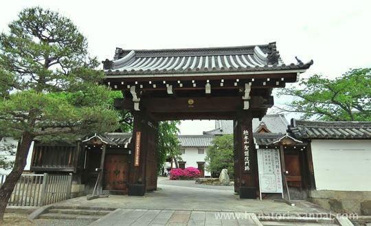 京都の聖護院門跡の門