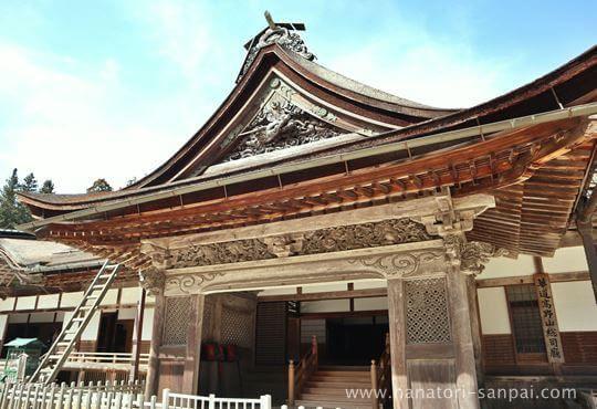 高野山金剛峯寺の玄関
