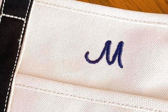 ランズエンドのトートバッグの刺繍