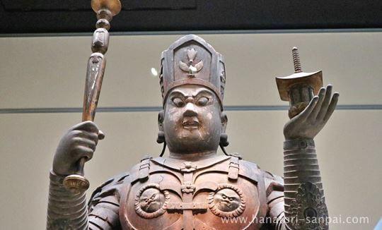 特別展奈良博三昧の兜跋毘沙門天立像