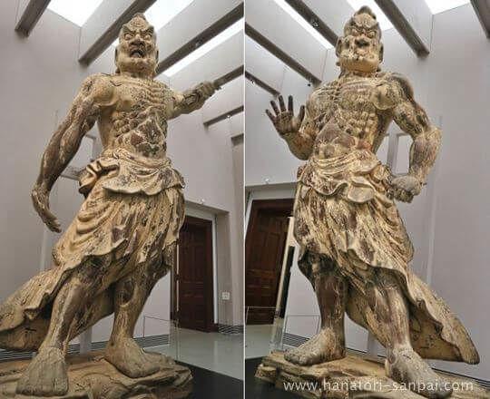 奈良国立博物館の金峯山寺仁王門金剛力士立像