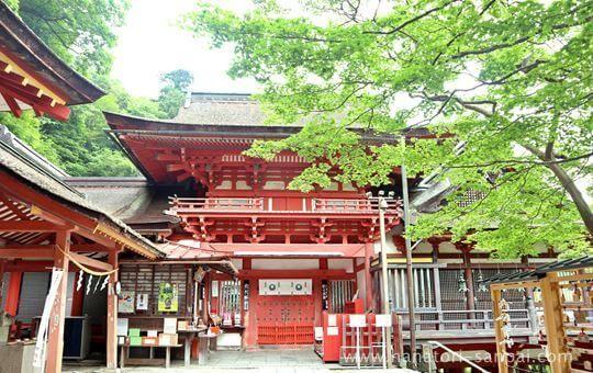 談山神社の拝殿入り口正面