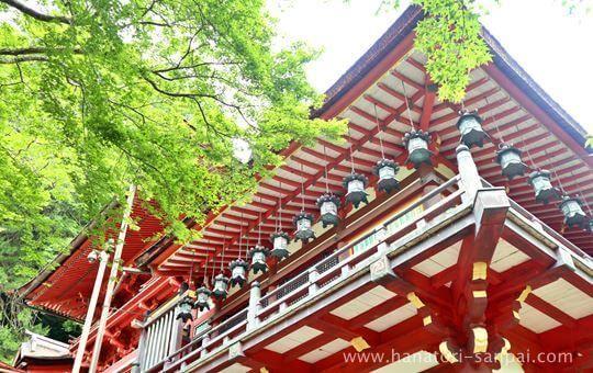 談山神社の拝殿外から
