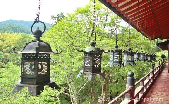 談山神社の拝殿から