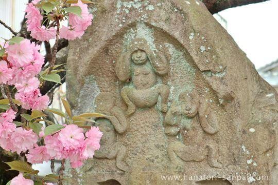 八坂庚申堂の門前の三猿