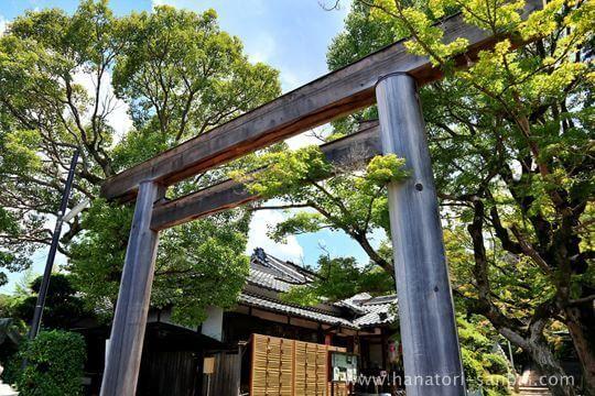 等彌神社の一の鳥居