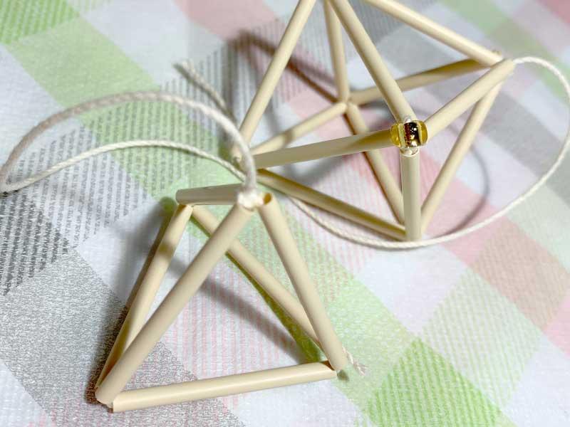 フェリシモのヒンメリキットで作った三角形と八面体
