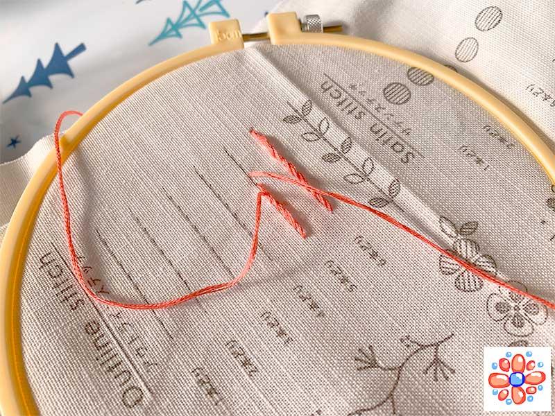 刺繍初心者の失敗