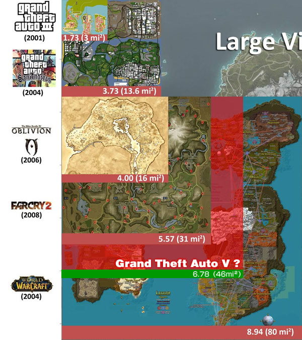 Open World Map Sizes.Open World Map Size Comparsion Old Hanecci S Blog 旧 はねっちブログ