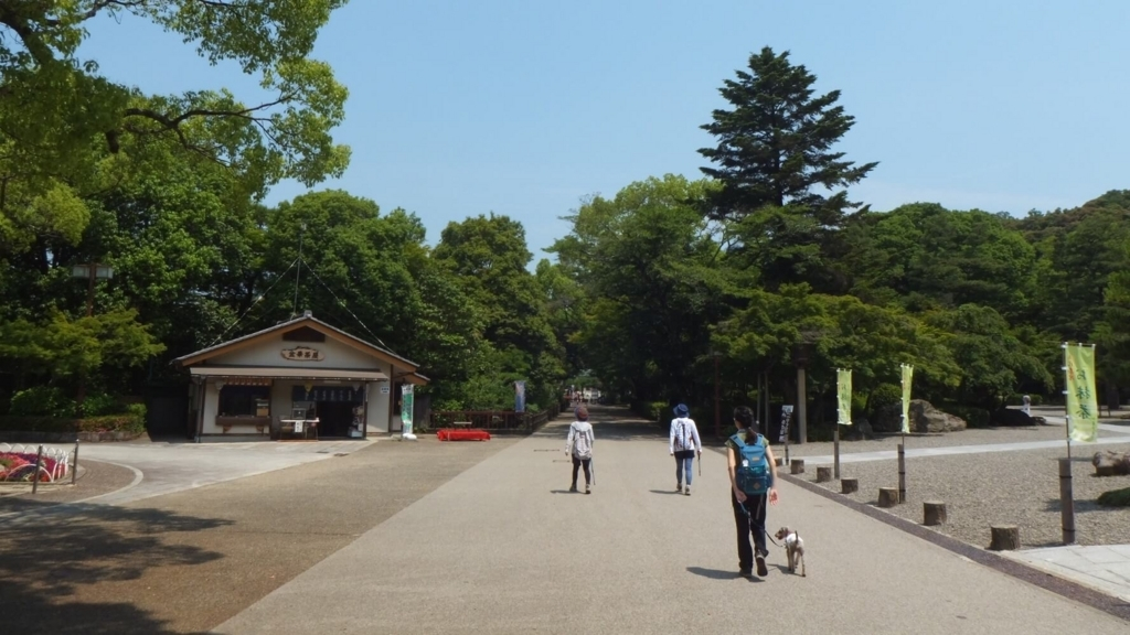 ペットと岐阜公園散策