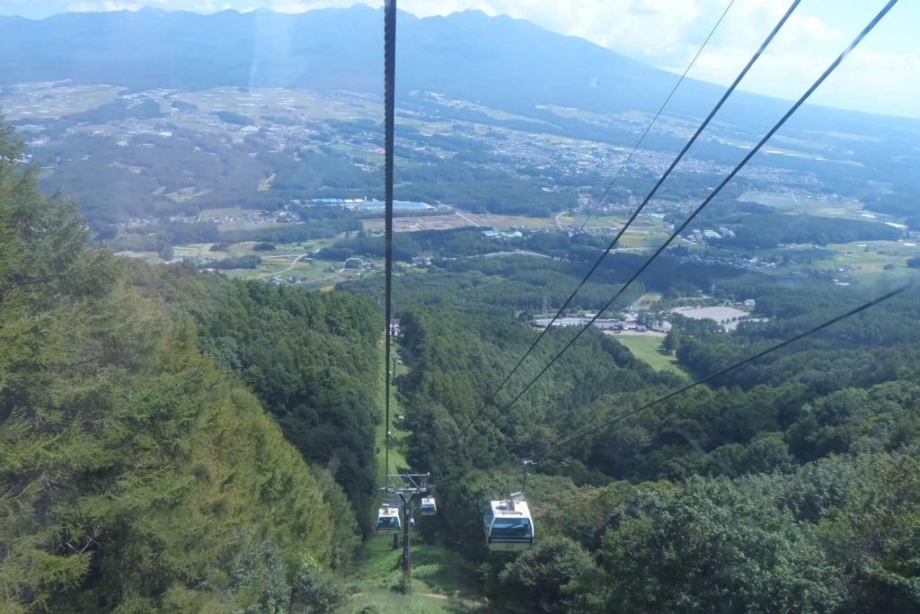 入笠山:ゴンドラからの風景
