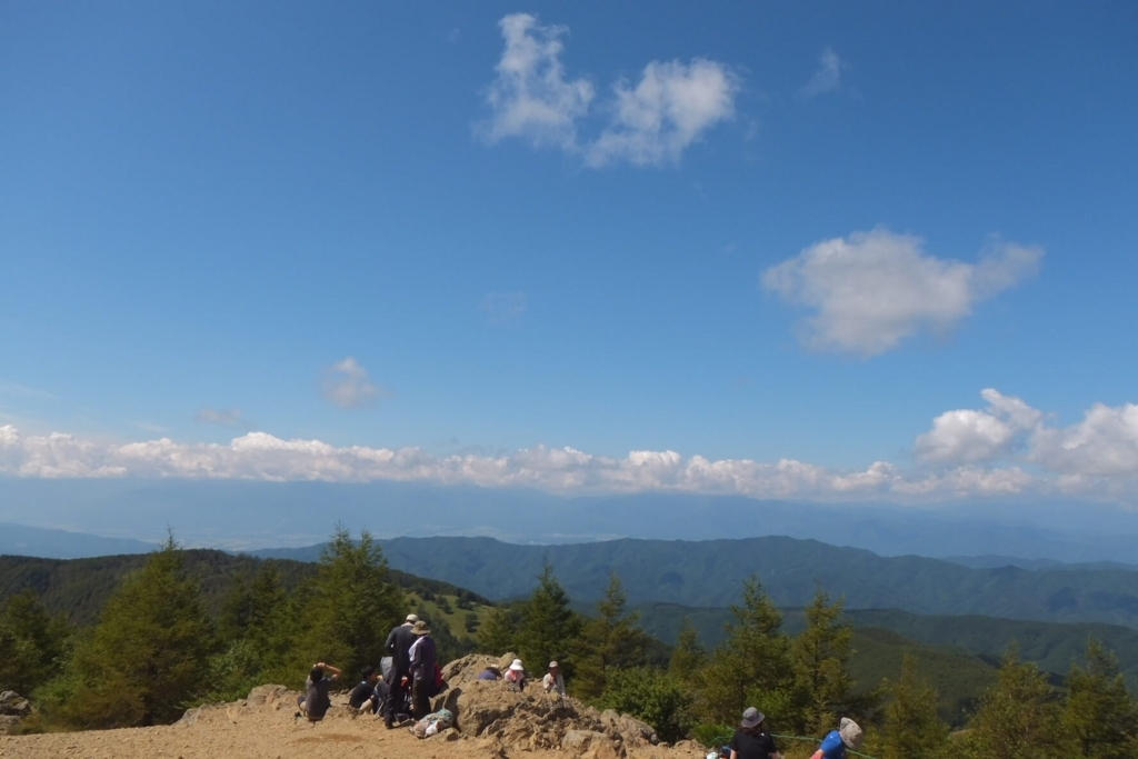 入笠山:山頂の景色1