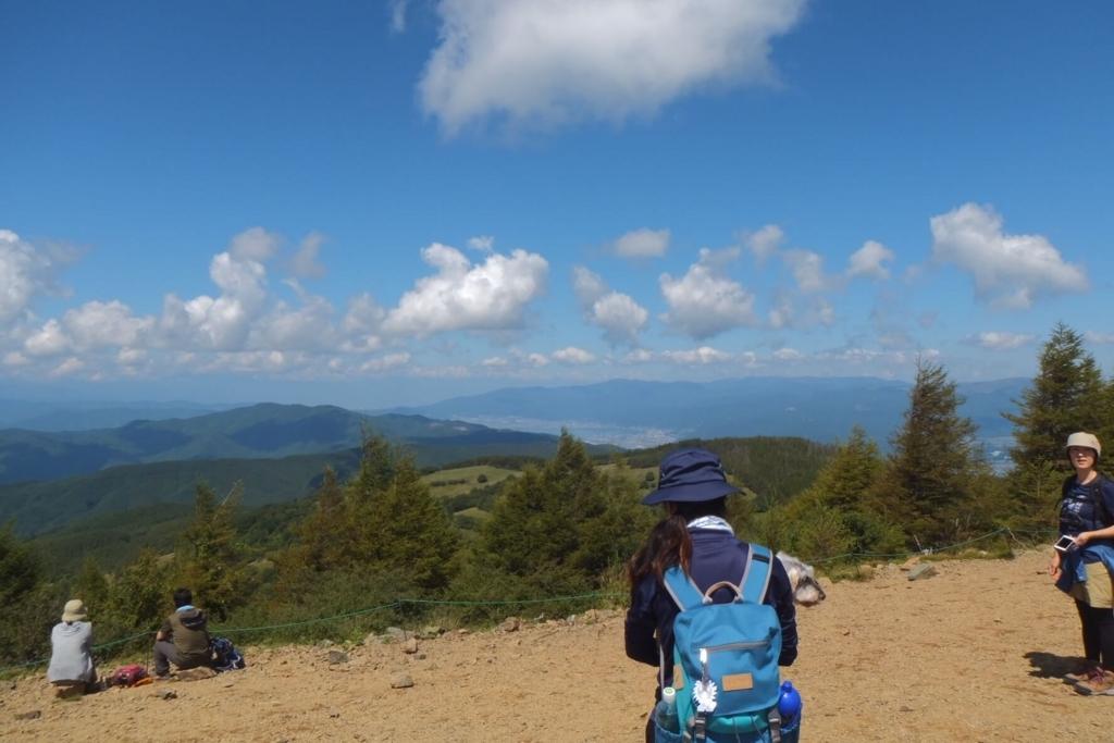 入笠山:山頂の景色2