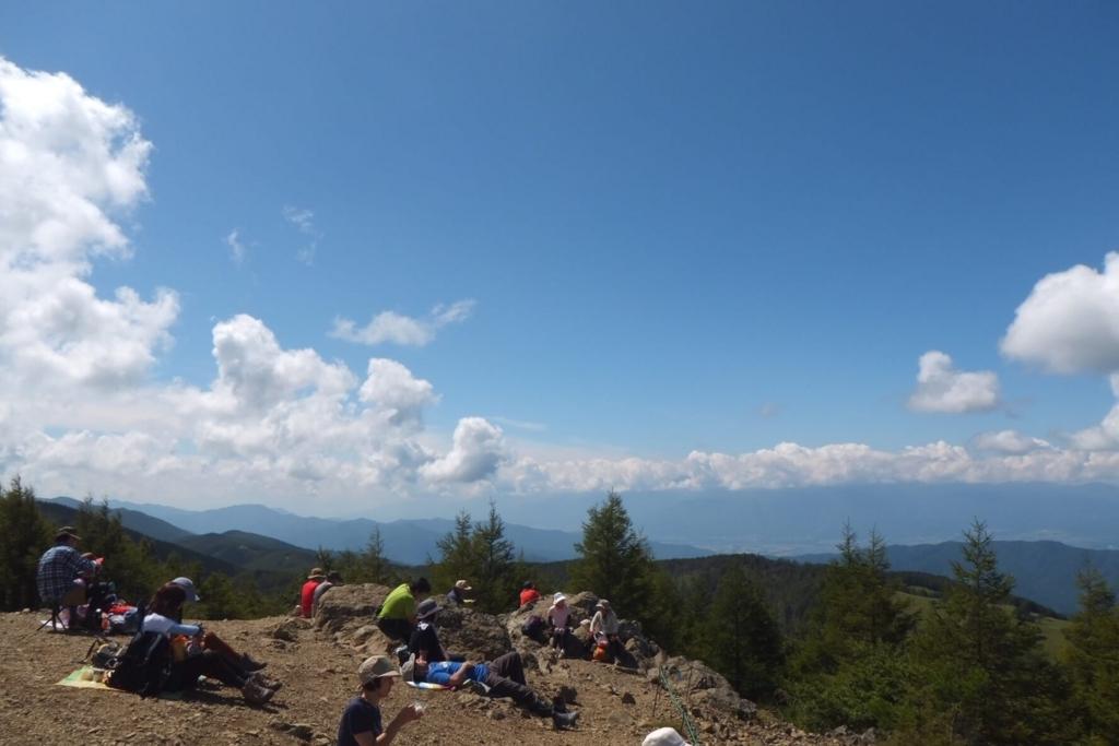 入笠山:山頂の景色4