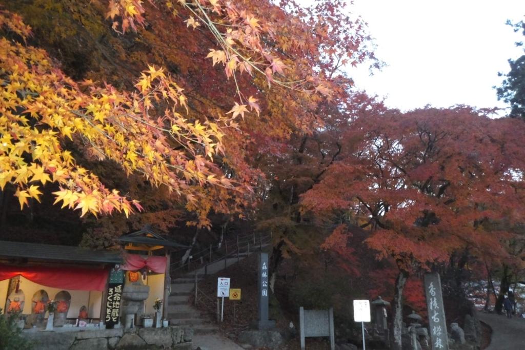 香嵐渓:紅葉
