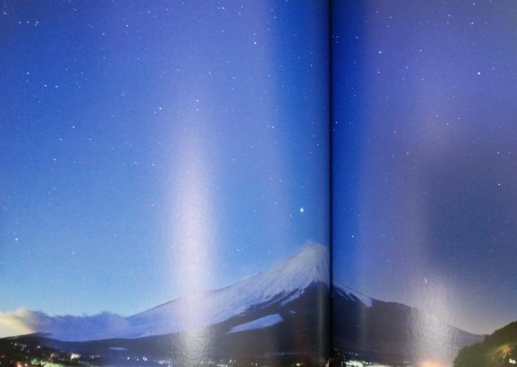 夜空と星の物語:富士山