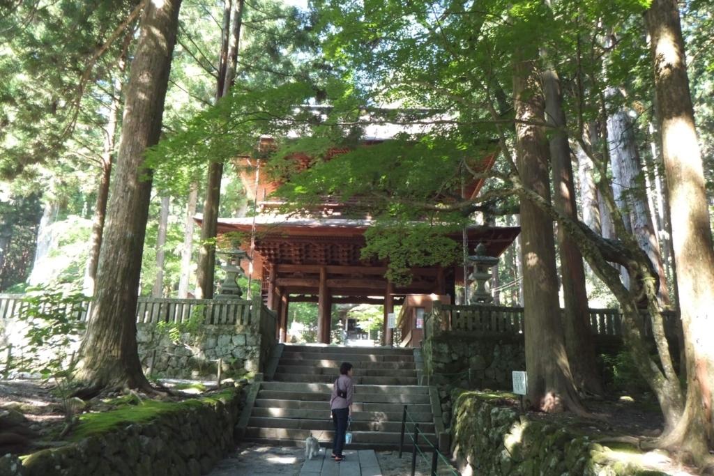 長野県駒ケ根市:光前寺(参拝口)