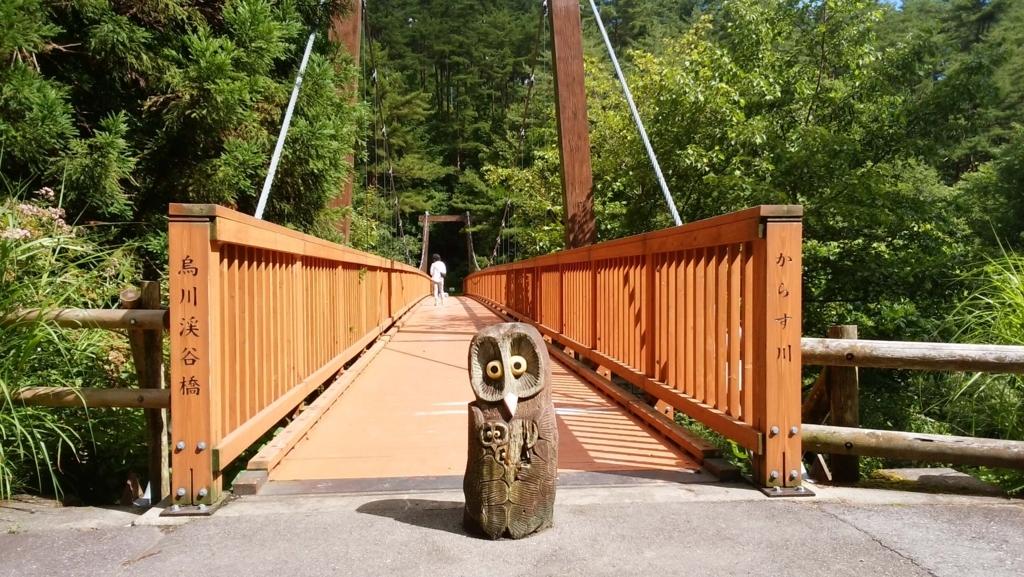 安曇野:烏川渓谷緑地 吊橋入り口