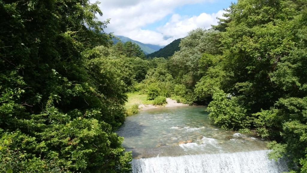 安曇野:烏川渓谷緑地 蝶ヶ岳
