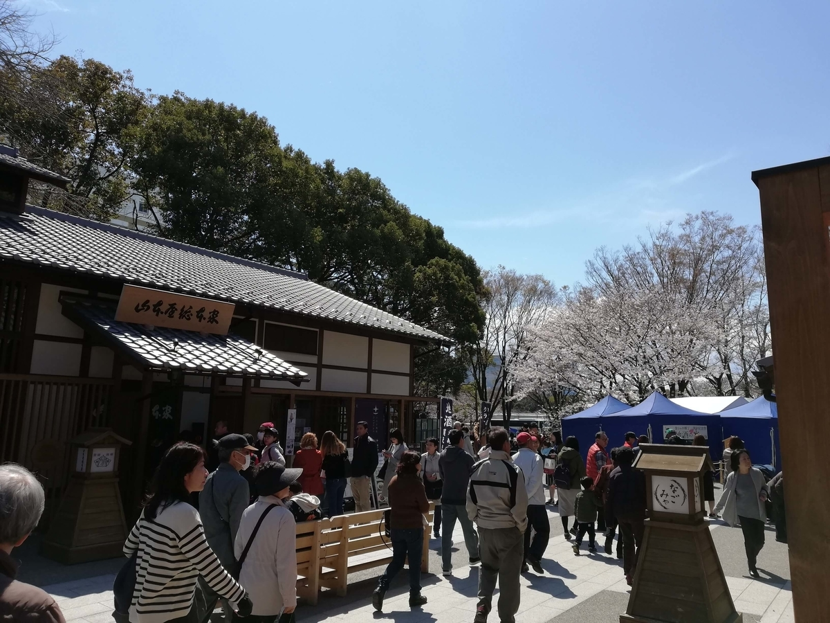 愛知県内でペットと遊ぶ:名古屋城桜まつり 金シャチ横丁