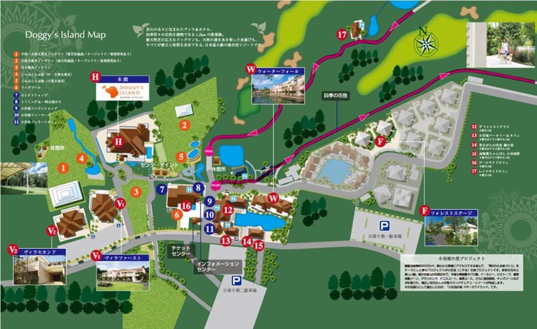 小谷流の里ドギーズアイランド:全体マップ