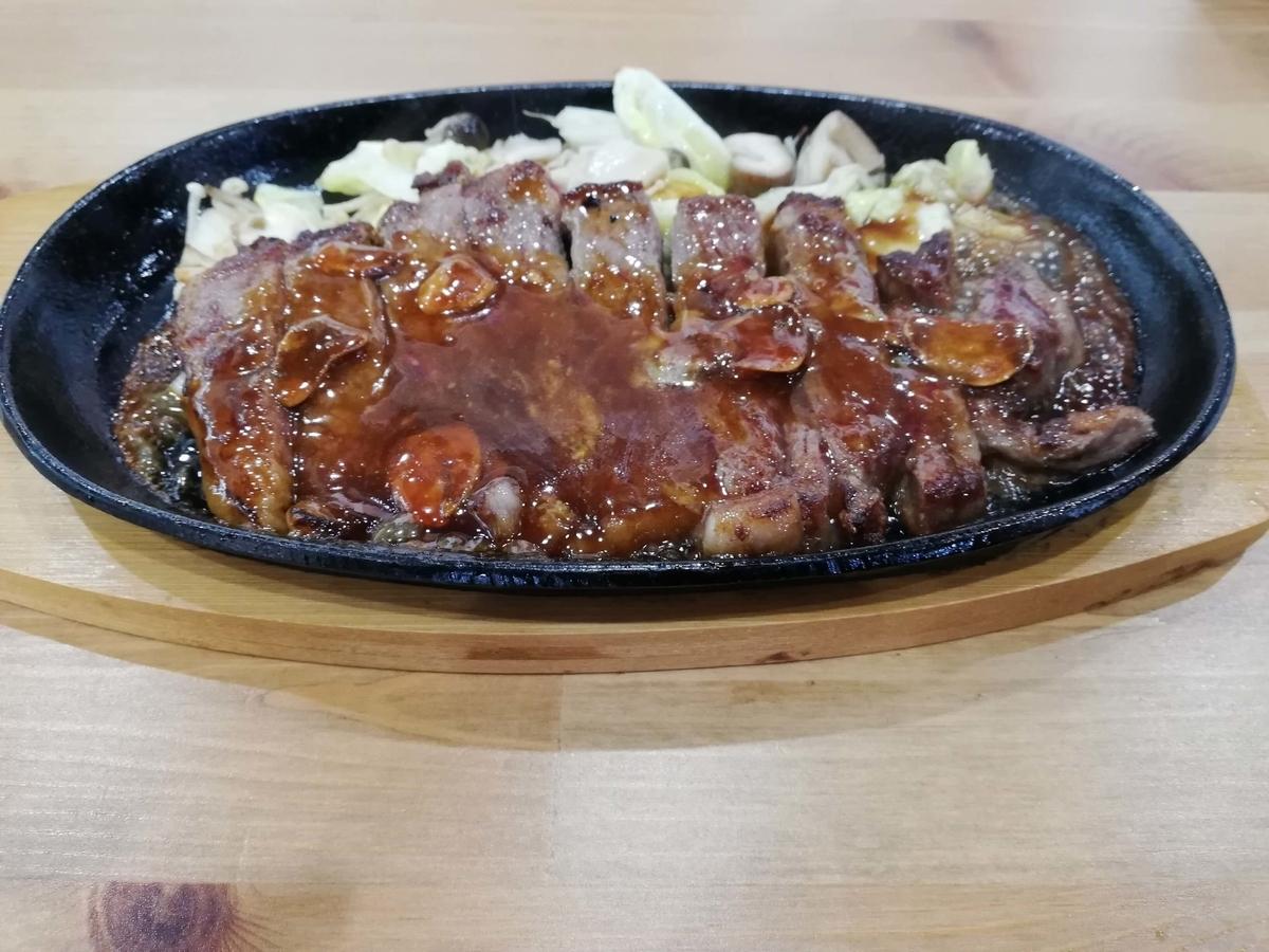 千葉県八街市:ドックカフェ でぃーえるあーる ランチメニューステーキ