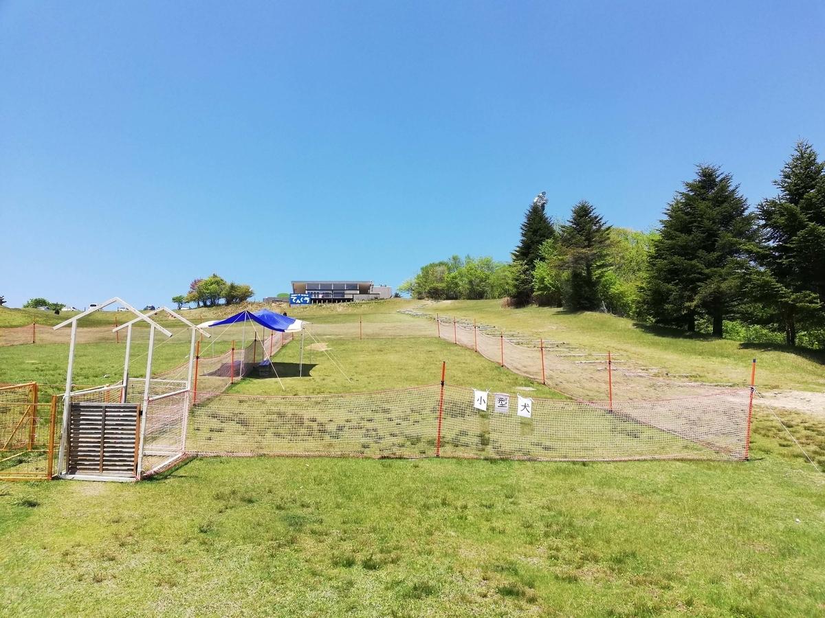 愛知県内でペットと遊ぶ:茶臼山高原 小型犬用ドッグラン