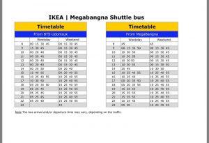 メガバンナー(IKEA)シャトルバス時刻表