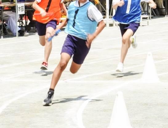 運動会で走るイメージ図