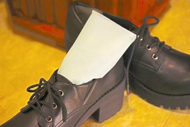 靴用乾燥剤のイメージ図
