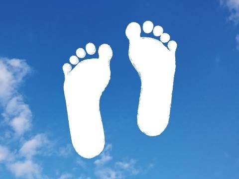 成長する足のイメージ図